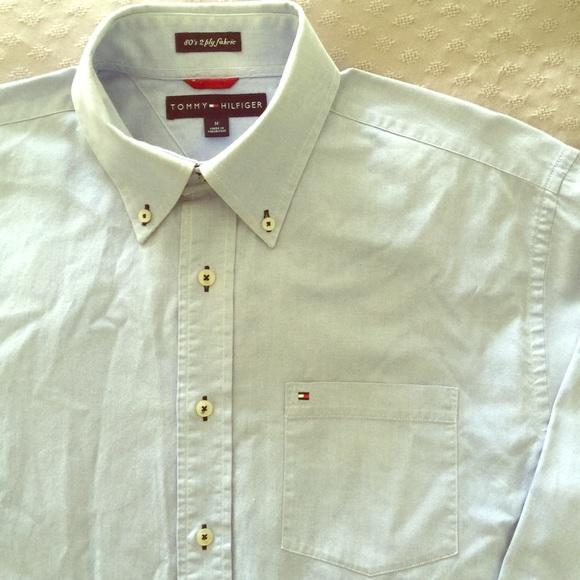 bb926e074 Vintage Tommy Hilfiger • 80's 2 Ply Fabric Shirt. M_5ad90475a4c48597efc16af5